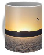 Pelican At Sunset Coffee Mug