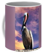 Pelican At Sunset Coffee Mug