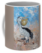 Pelican Beach Walk - Impressionist Coffee Mug