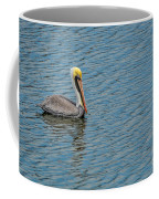 Pelican Drifting On Rippled Water Coffee Mug