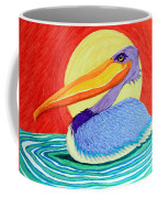Pelican In The Sun  Coffee Mug