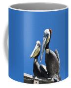 Pelican Pair At Oceanside Pier Coffee Mug