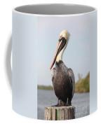 Pelican Pose Coffee Mug by Carol Groenen