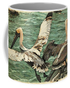 Pelican Take Off Two Coffee Mug
