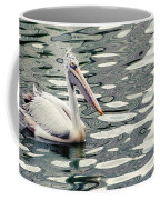 Pelican With Abstract Water Reflections I Coffee Mug