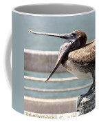 Pelican Yawn - Digital Painting Coffee Mug