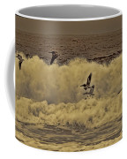 Pelicans In The Surf Coffee Mug
