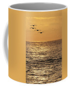 Pelicans Ocean And Sunsetting Coffee Mug