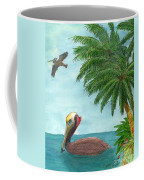 Pelicans Palm Trees Tropical Birds Cathy Peek Coffee Mug