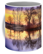 Pella Crossing Sunrise Reflections Hdr Coffee Mug