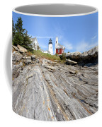 Pemaquid Point Lighthouse In Maine Coffee Mug by Olivier Le Queinec