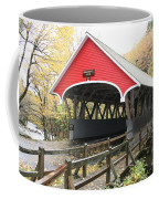 Pemigewasset River Covered Bridge In Fall Coffee Mug