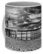 Penarth Pier Panorama Monochrome Coffee Mug
