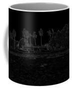 Pencil - A Houseboat On Its Quiet Sojourn Through The Backwaters Coffee Mug