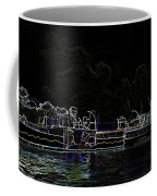Pencil - Statue Of The Merlion And Viewing Platform Coffee Mug