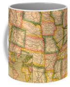 Pennsylvania Railroad Map 1879 Coffee Mug