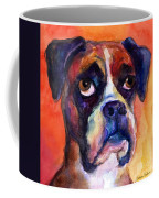 pensive Boxer Dog pop art painting Coffee Mug