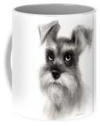 Pensive Schnauzer Dog Painting Coffee Mug