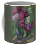 Peonies In The Shade Coffee Mug