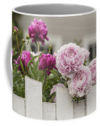 Peonies On A Picket Coffee Mug