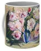 Peons In Blue Vase Coffee Mug
