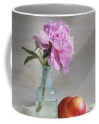 Peony Blue Bottle And Nectarine Coffee Mug