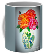 Peonys In Vase Coffee Mug