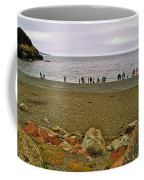 People Lined Up To Catch Capelin On The Shore Of Middle Cove-nl Coffee Mug