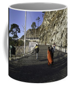 People Walking On The Path Leading To Shrine Of Vaishno Devi Coffee Mug