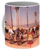People Walking On The Sidewalk, Venice Coffee Mug