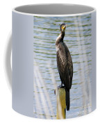 Perching Cormorant Coffee Mug