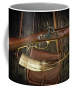 Percussion Cap And Ball Rifle With Powder Horn And Possibles Bag Coffee Mug
