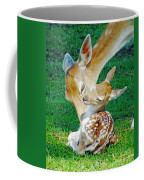 Pere David Deer And Fawn Coffee Mug