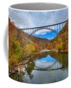 Perfect Reflections Of The New River Gorge Bridge Coffee Mug