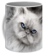 Persian Cat With Blue Eyes Coffee Mug