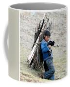 Peruvian Boy Gathers Wood Coffee Mug