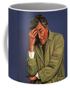 Peter Falk As Columbo Coffee Mug by Paul Meijering