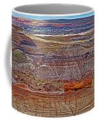 Petrified Log On Overlook Near Blue Mesa In Petrified Forest National Park-arizona   Coffee Mug