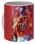 Peyton Manning Abstract 3 Coffee Mug by David G Paul