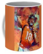 Peyton Manning Abstract 4 Coffee Mug