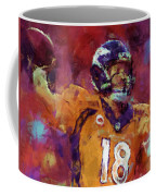 Peyton Manning Abstract 5 Coffee Mug by David G Paul