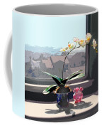Phalaenopsis Orchid In Sunny Window Coffee Mug