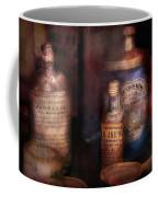 Pharmacist - Medicine For Diarrhea And Burns  Coffee Mug by Mike Savad