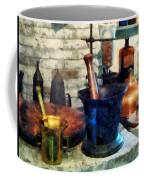 Pharmacist - Three Mortar And Pestles Coffee Mug by Susan Savad