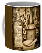 Pharmacy - Snake Oil -  Black And White Coffee Mug