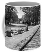 Phelps Ny Train Station In Black And White Coffee Mug