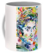 Phil Ochs - Watercolor Portrait Coffee Mug