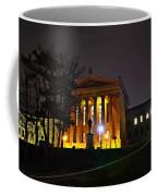 Philadelphia Art Museum  At Night From The Rear Coffee Mug