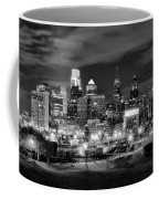 Philadelphia Black And White Cityscape Coffee Mug