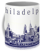 Philadelphia Blueprint  Coffee Mug by Olivier Le Queinec